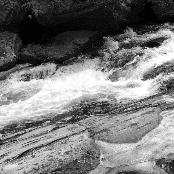 Rapids at Northeys Bay Rd Bridge on Eels