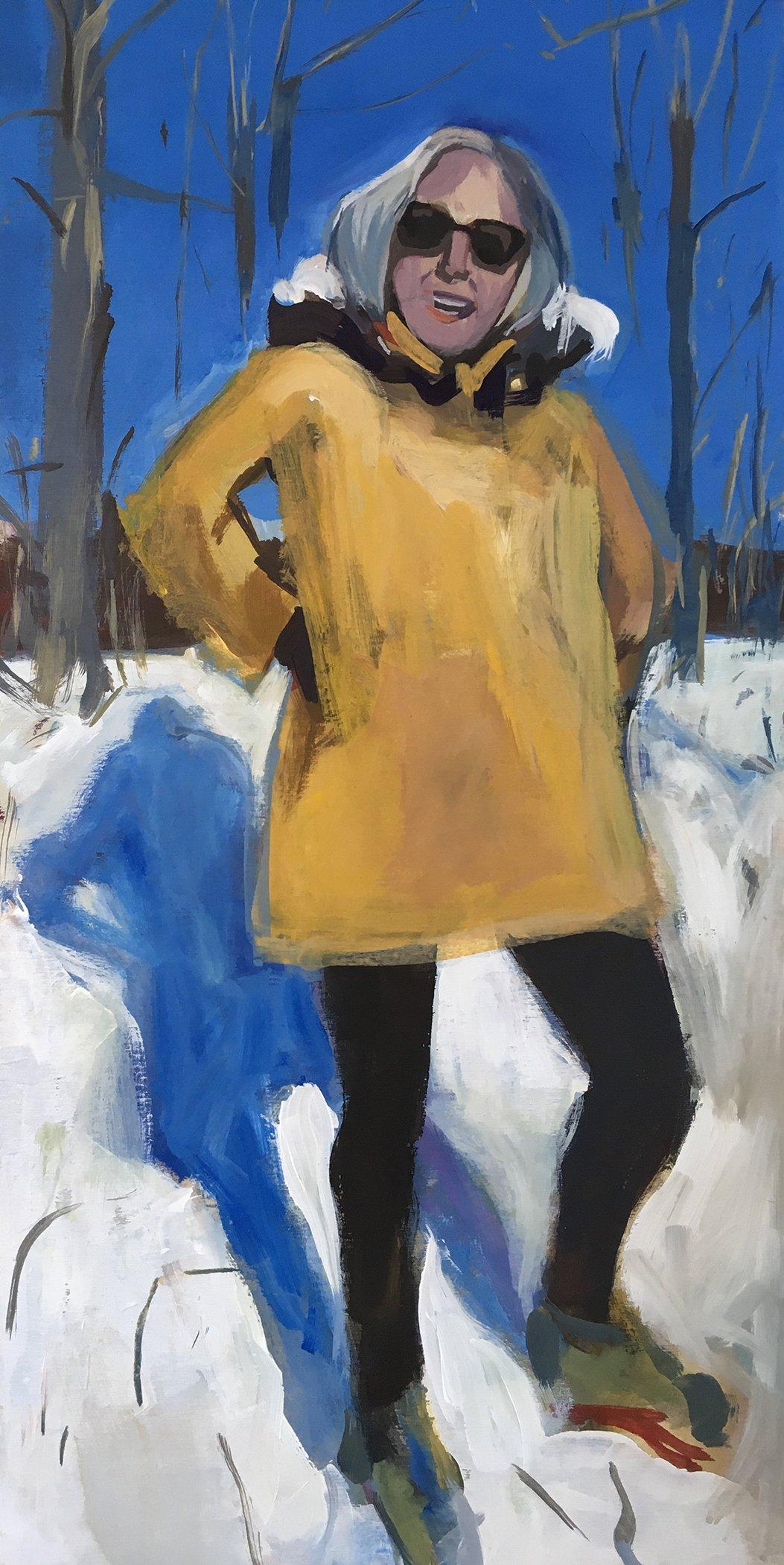 My Sister's Joyful Yellow Coat